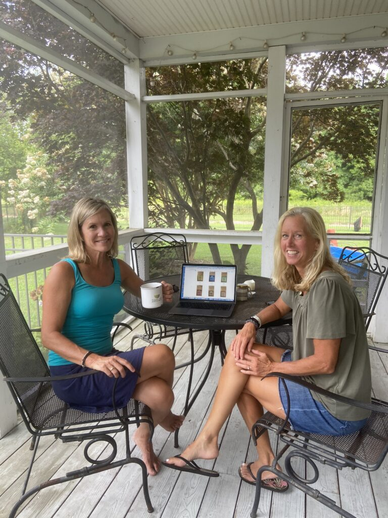 Karen Johnson, left and Sahraon Vitella plan for online sales of Swell Joe Coffee